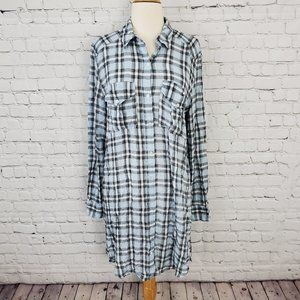 Wilfred Free Veronika Shirt Dress Blue Plaid S